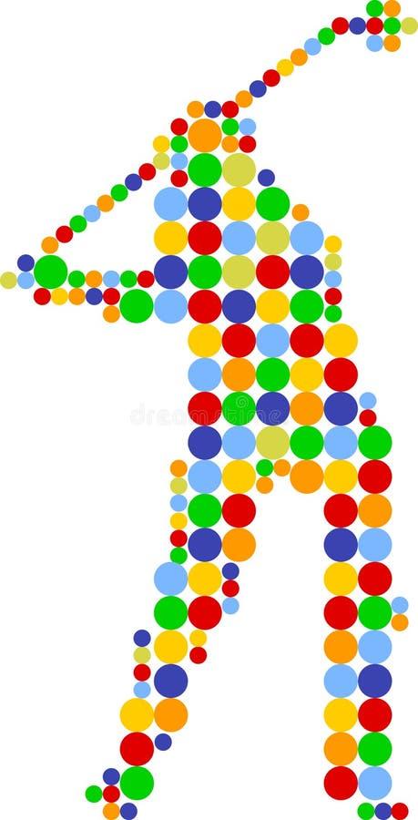 Golf zur Kerbe vektor abbildung