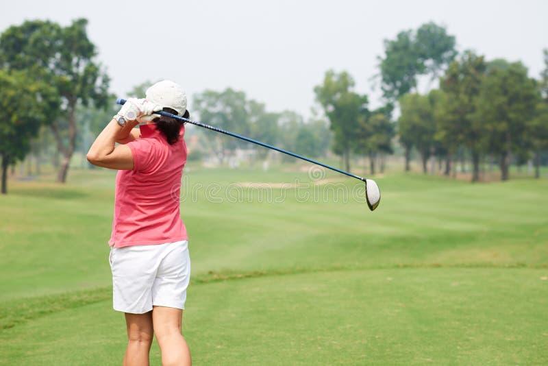 golfa odosobniony gracza strzału studio obrazy royalty free