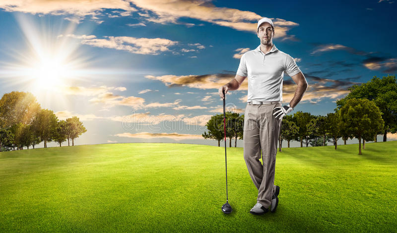 golfa odosobniony gracza strzału studio obrazy stock