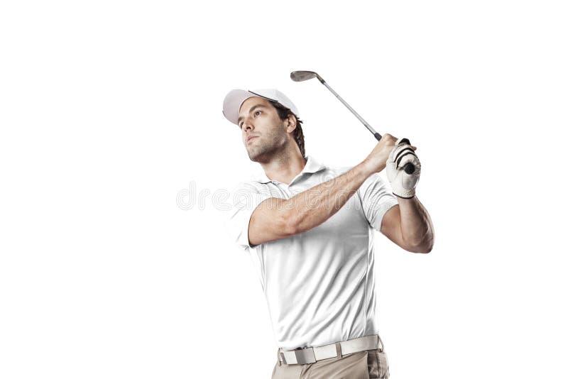 golfa odosobniony gracza strzału studio zdjęcie stock