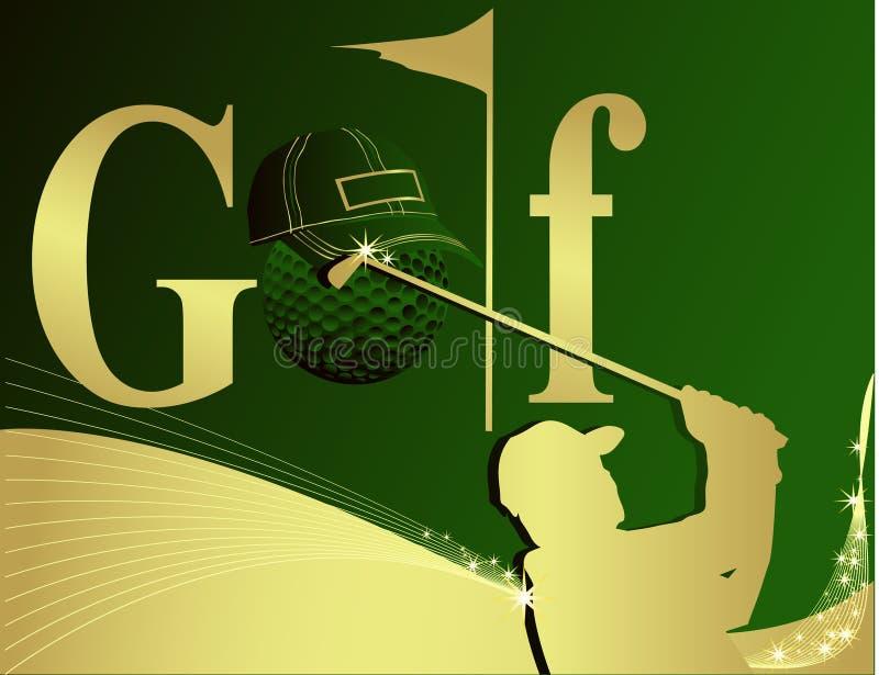 Golfabbildung stock abbildung