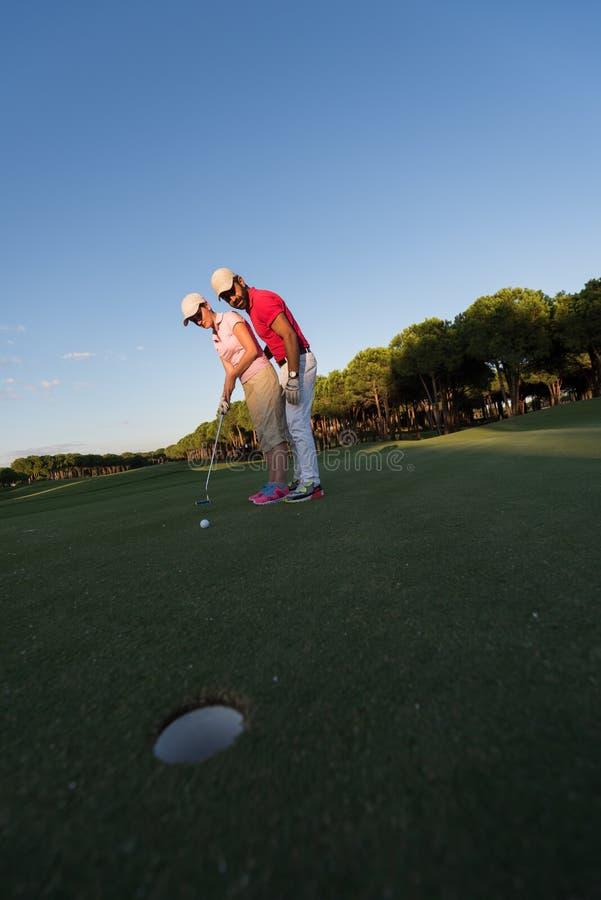 Golfanvisningar royaltyfria foton