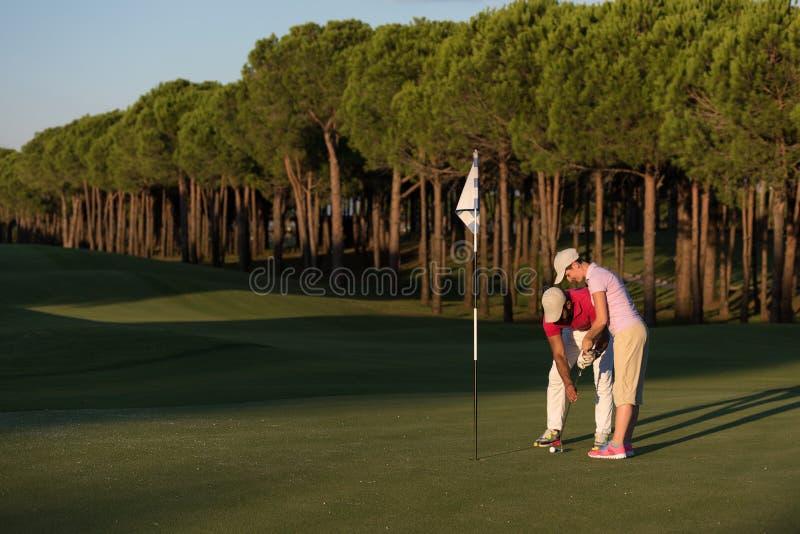Golfanvisningar arkivbild