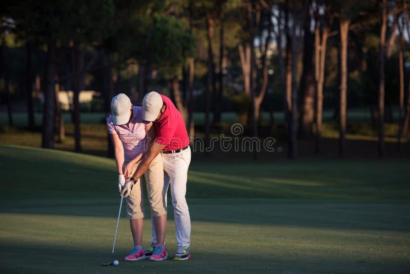 Golfanvisningar arkivfoton