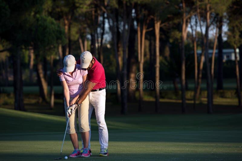 Golfanvisningar fotografering för bildbyråer
