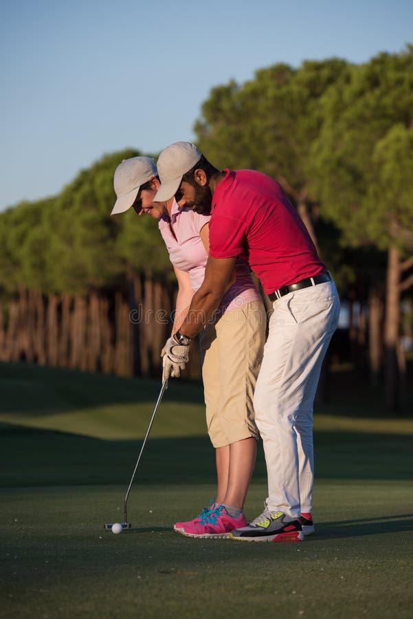 Golfanvisningar royaltyfri foto