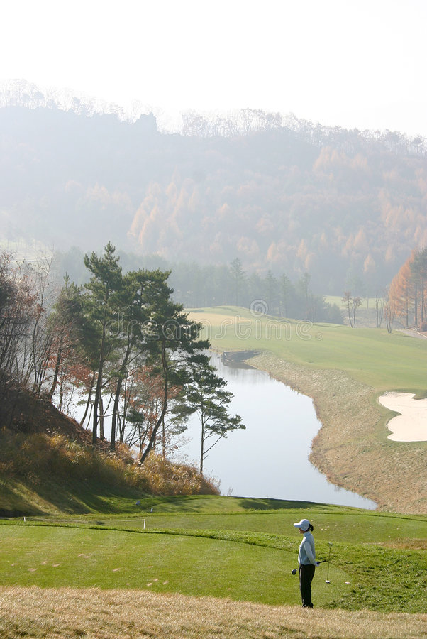 Download Golfare korea arkivfoto. Bild av klubba, golf, green, semester - 32824