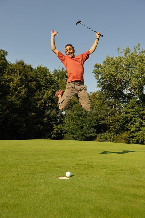 golfare två royaltyfria foton