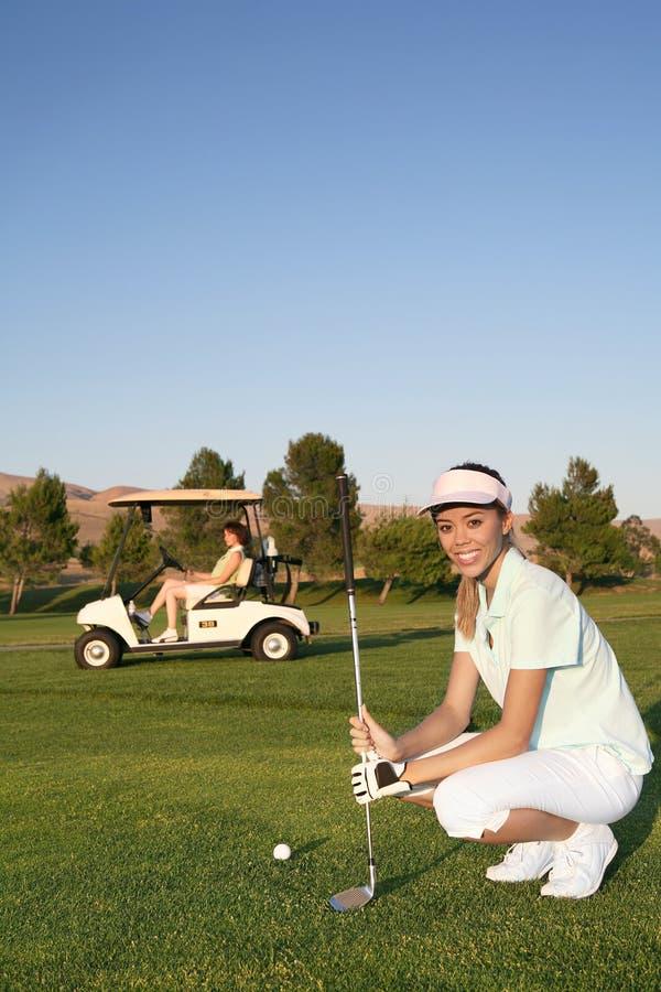 golfarekvinna royaltyfria bilder