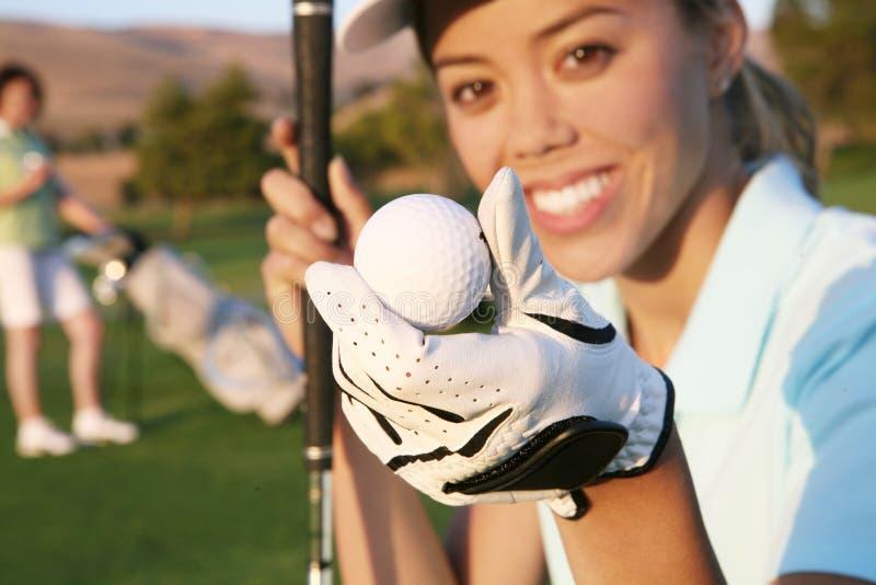golfarekvinna royaltyfria foton