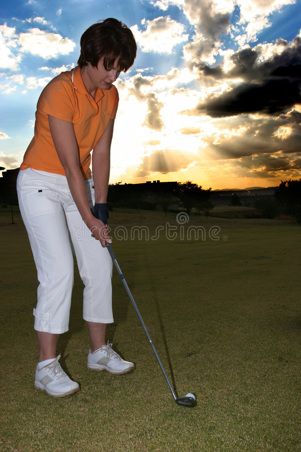 Golfarelady Royaltyfri Fotografi