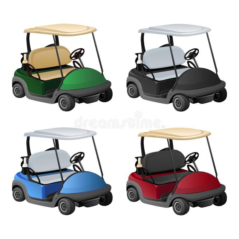 Golfauto 4 kleur royalty-vrije stock afbeeldingen