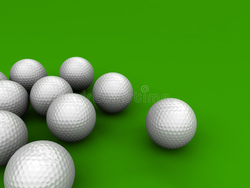 Golfbälle lizenzfreie abbildung