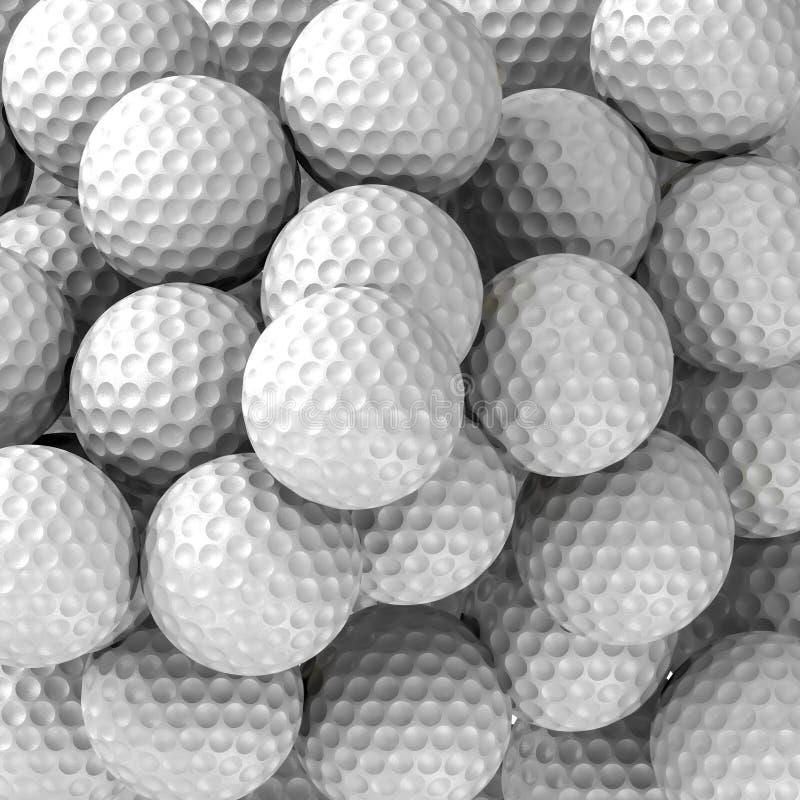 Golfbälle auf Hintergrund lizenzfreie stockbilder