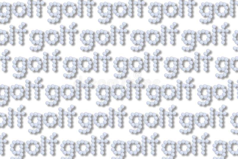Golfbälle kopieren lokalisiert auf Weiß stockfotos