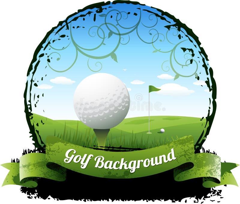 Golfbakgrund royaltyfri illustrationer