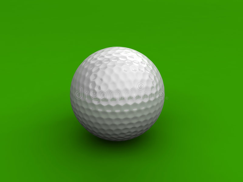 Golfbal stock illustratie