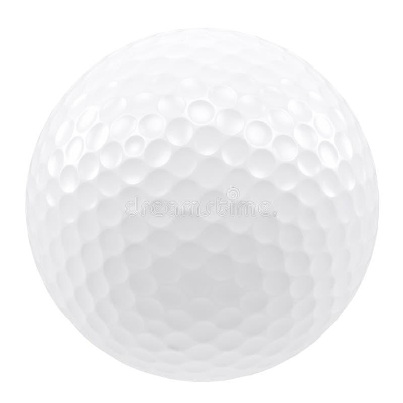 Golfbal die op een witte achtergrond wordt geïsoleerdg vector illustratie