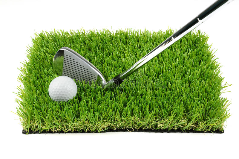 Golfbal en club