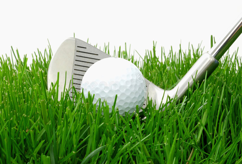Golfbal en Ijzer royalty-vrije stock foto