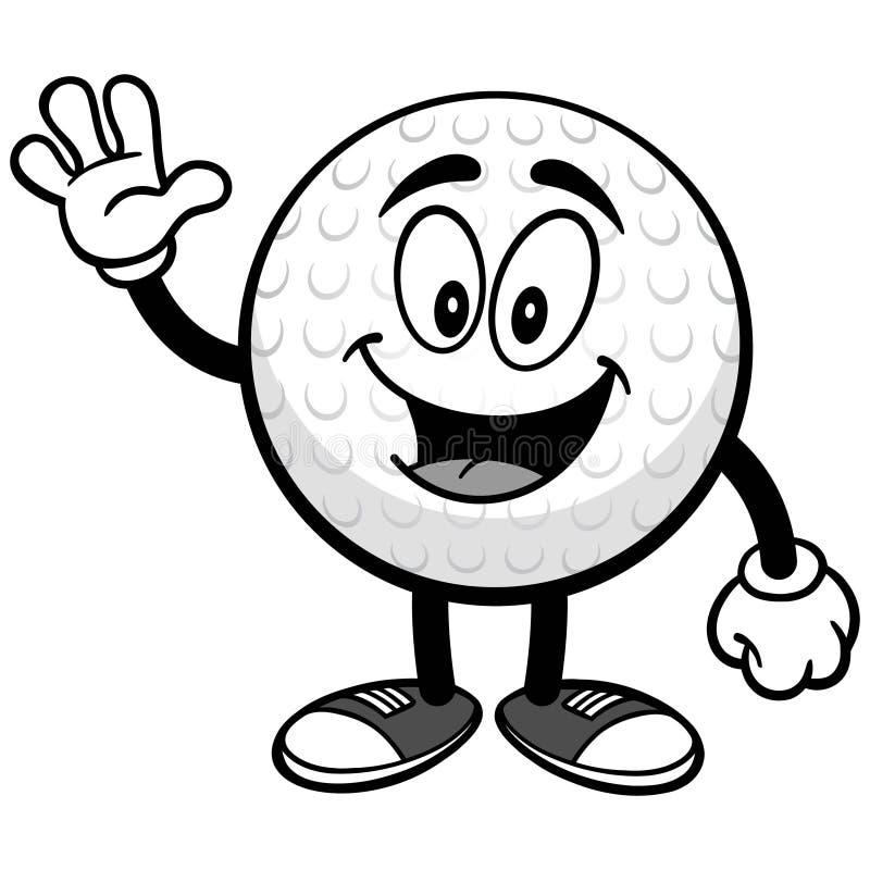 Golfbal Golvende Illustratie stock illustratie