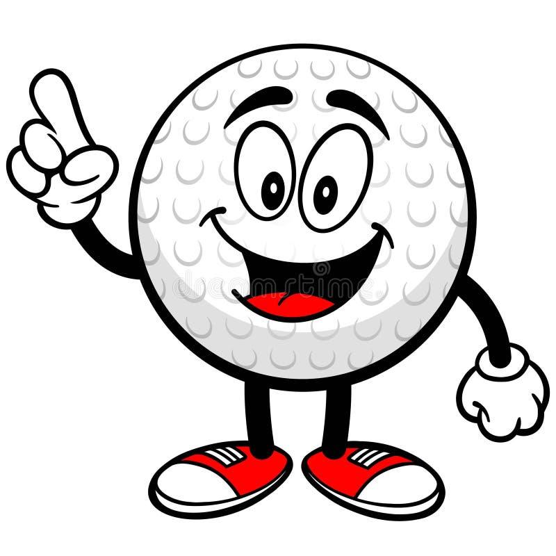 Golfbal het Spreken stock illustratie