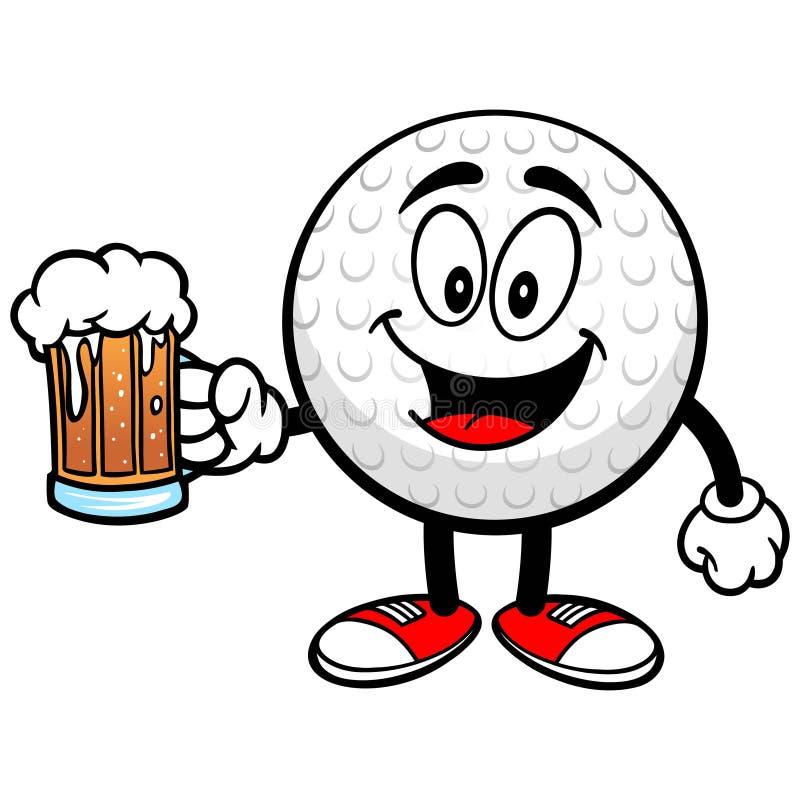 Golfbal met Bier vector illustratie