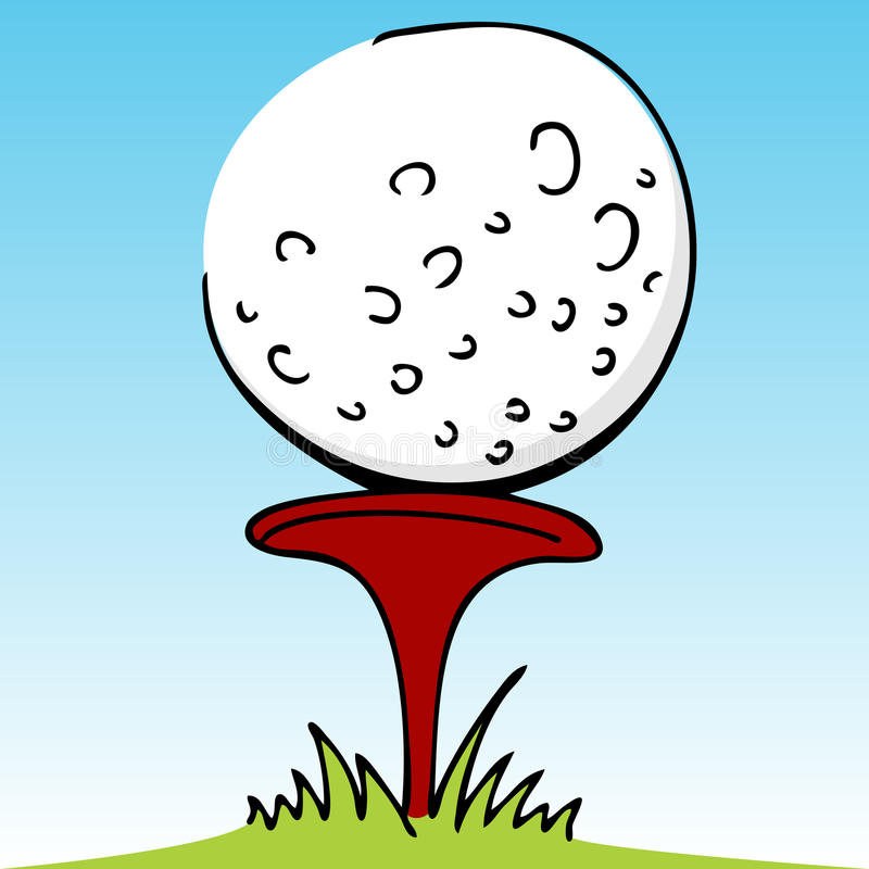 Golfbal met Divot vector illustratie