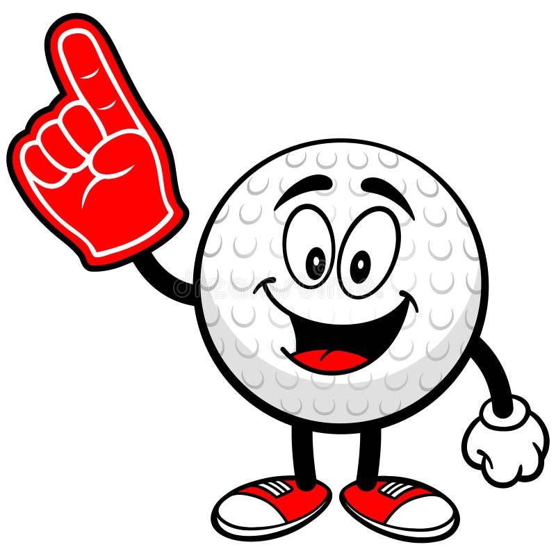 Golfbal met Schuimvinger vector illustratie