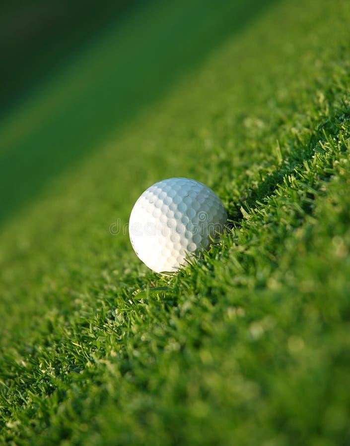 Golfbal op fairway royalty-vrije stock fotografie