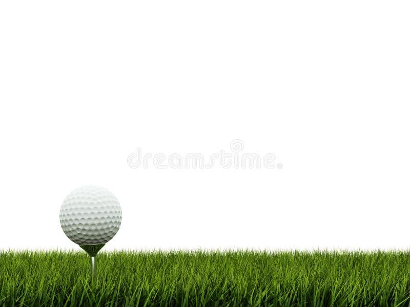 Golfbal op gras royalty-vrije illustratie