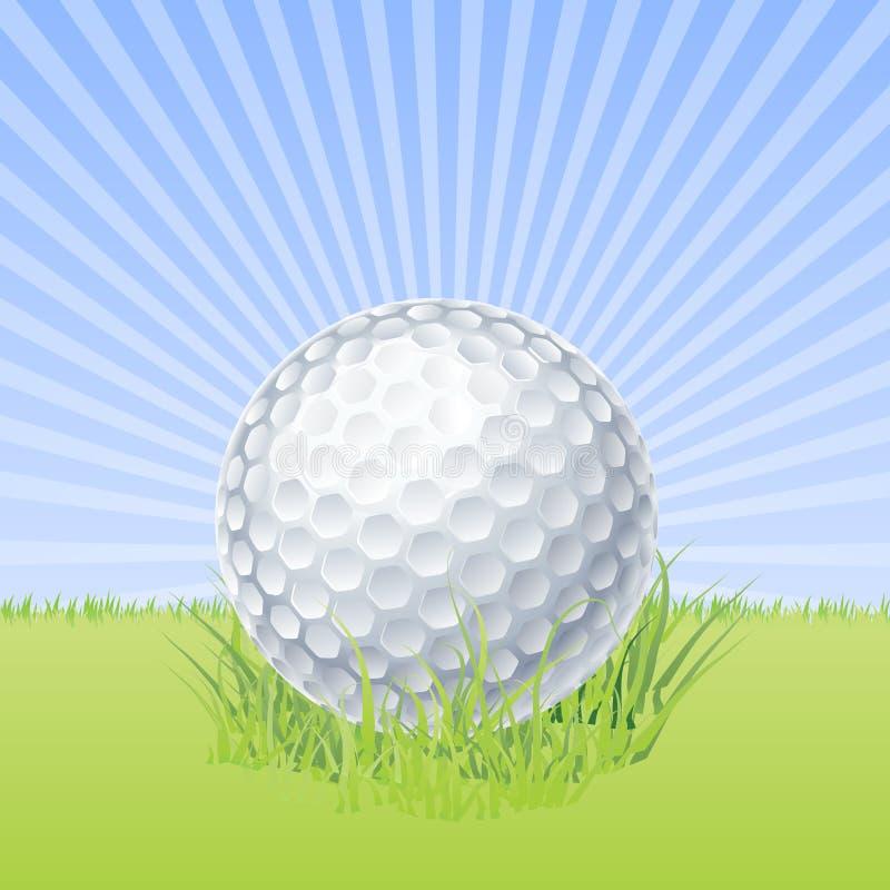 Golfbal Op Groene Macrovector Stock Foto's