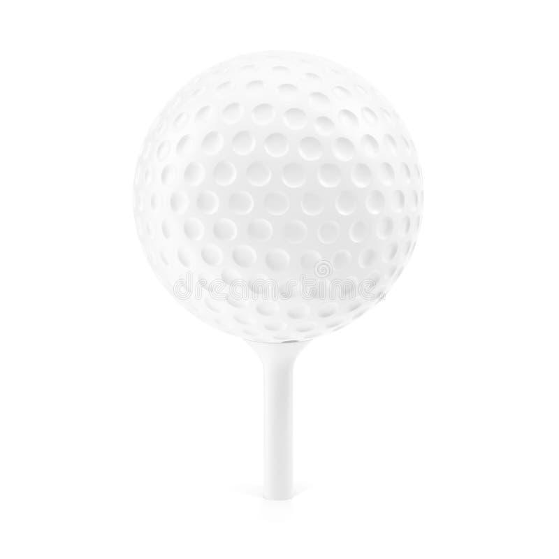 Golfbal op rek royalty-vrije illustratie