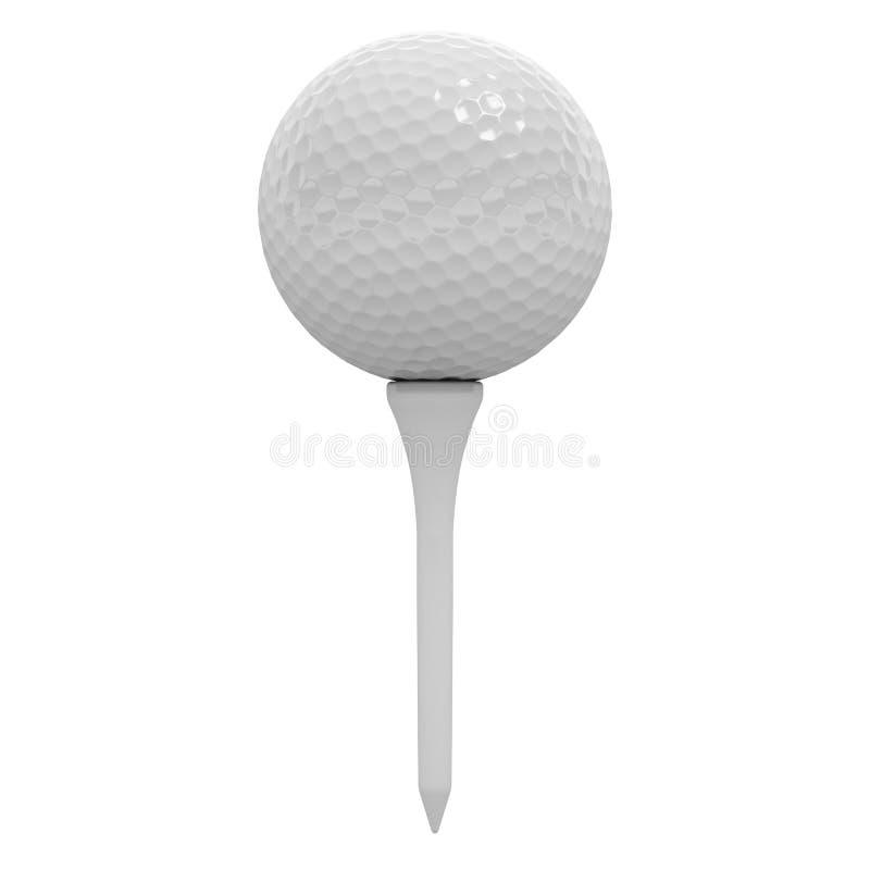 Golfbal op T-stuk royalty-vrije illustratie