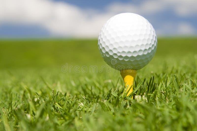 Golfbal op T-stuk royalty-vrije stock foto's