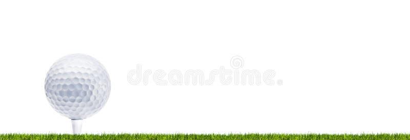 Golfbal op weide stock foto