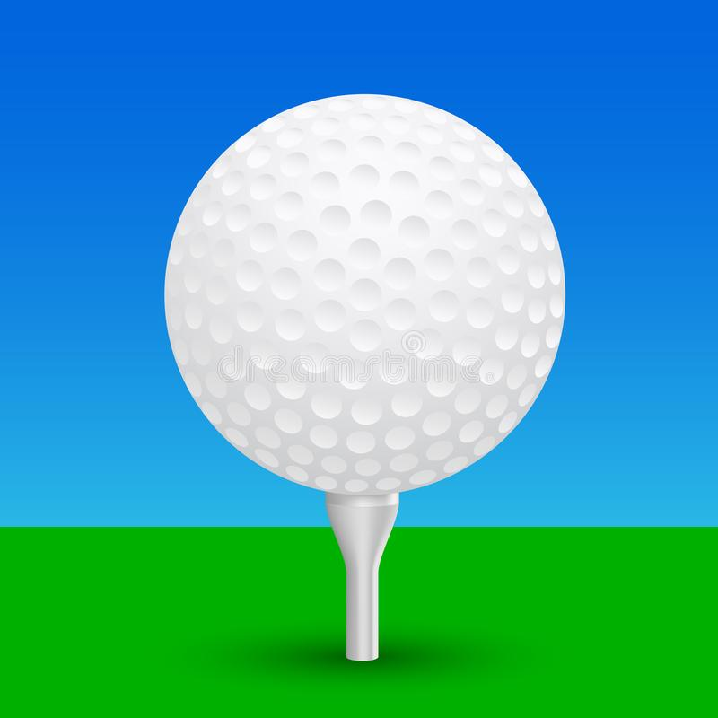 Golfbal - vector vector illustratie