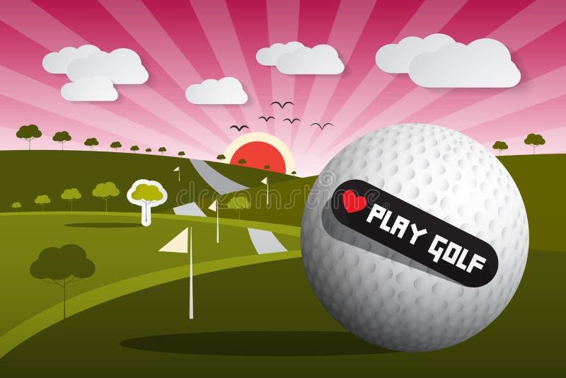 Golfbal vectorillustratie stock illustratie