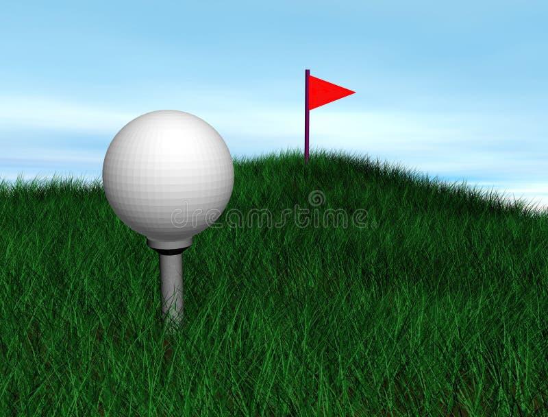 Golfball royalty-vrije illustratie