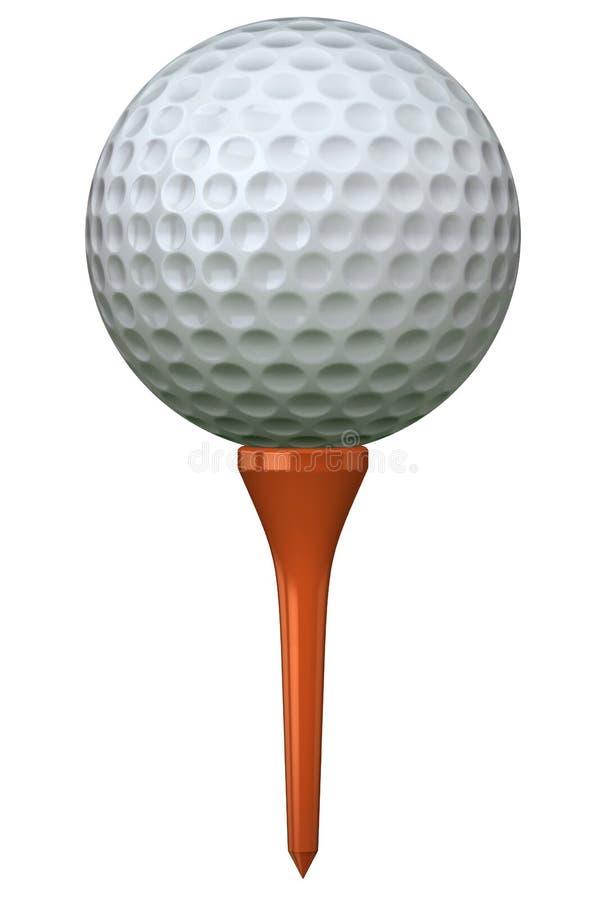 Golfball auf T-Stück vektor abbildung
