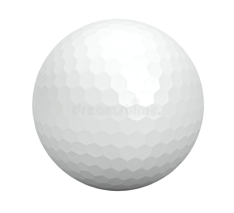 Golfball getrennt auf Weiß lizenzfreies stockbild