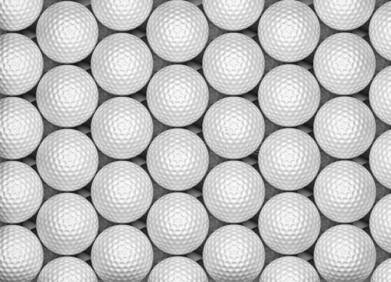 Golfball-Hintergrund lizenzfreie abbildung