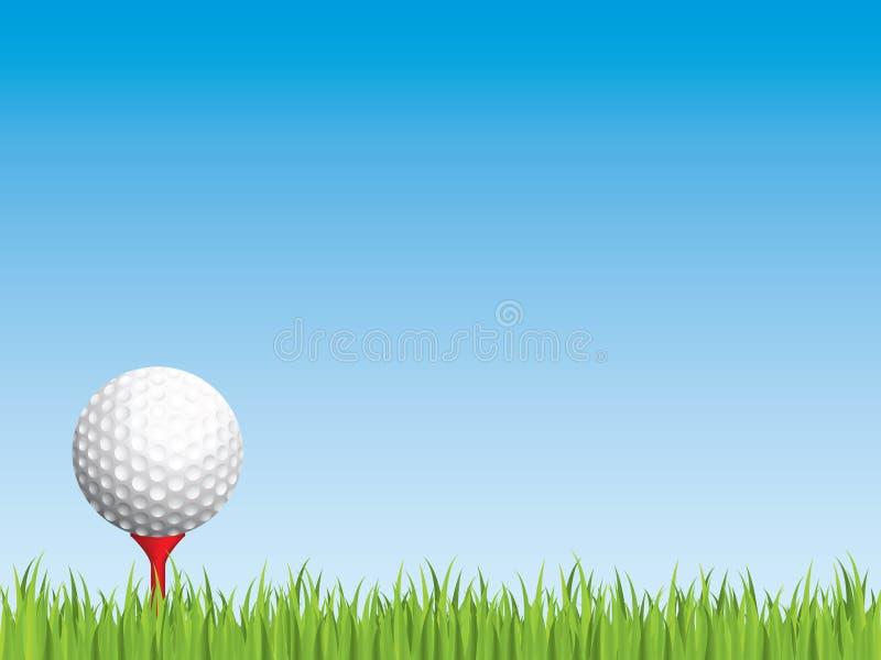 Golfball mit nahtlosem Gras lizenzfreie abbildung