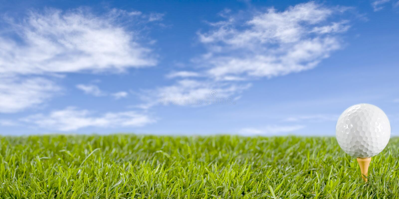 Golfball na grama. foto de stock royalty free