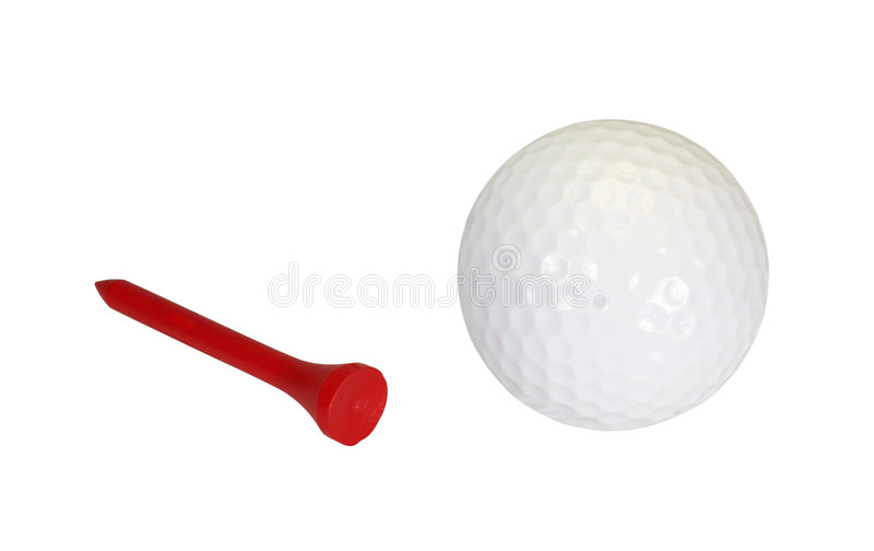 Download Golfball and Tee stock photo. Image of dimples, play, closeup - 6820832