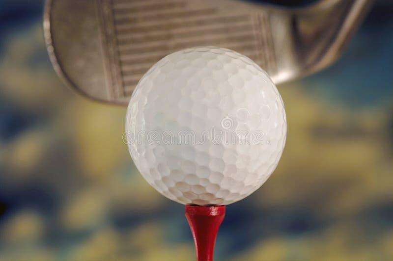 Golfball und Klumpen stockbild