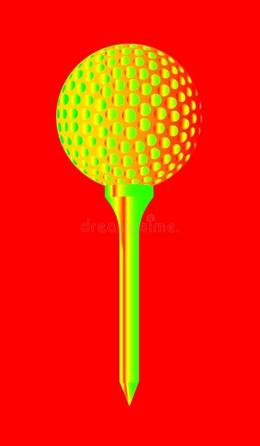 Golfball-und T-Stück Zusammenfassung vektor abbildung