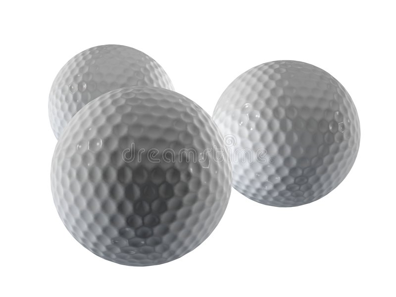 Golfballen stock illustratie