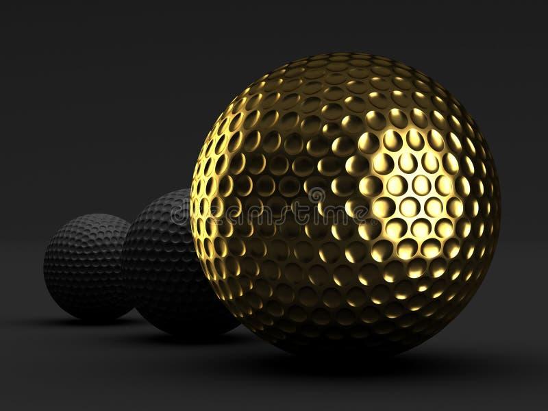 Golfballen royalty-vrije illustratie