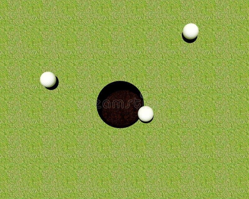 Golfballengat royalty-vrije stock fotografie